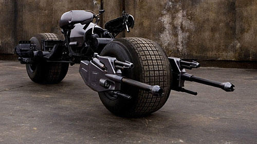 "Batpod, the motorcycle from 2008 ""Dark Knight"" Batman movie."
