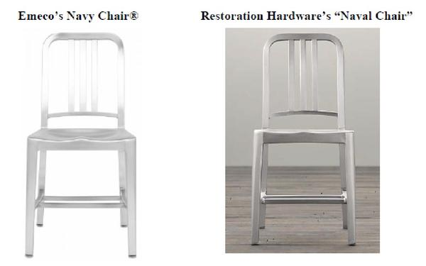 Emeco is accusing Restoration Hardware of stealing its chair designs.
