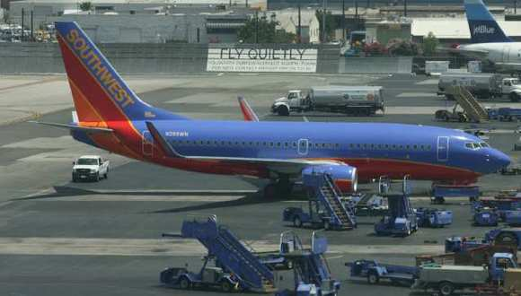 Southwest, the largest carrier at Bob Hope Airport, reported gains in passenger traffic this past August.