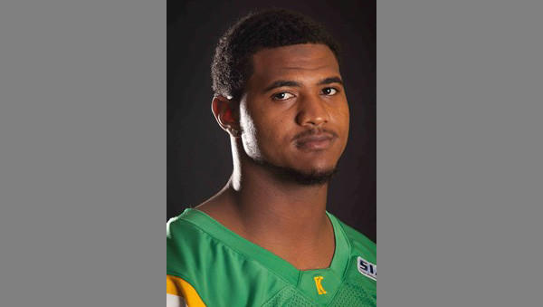 Kentucky State University senior quarterback Martez James (#7).