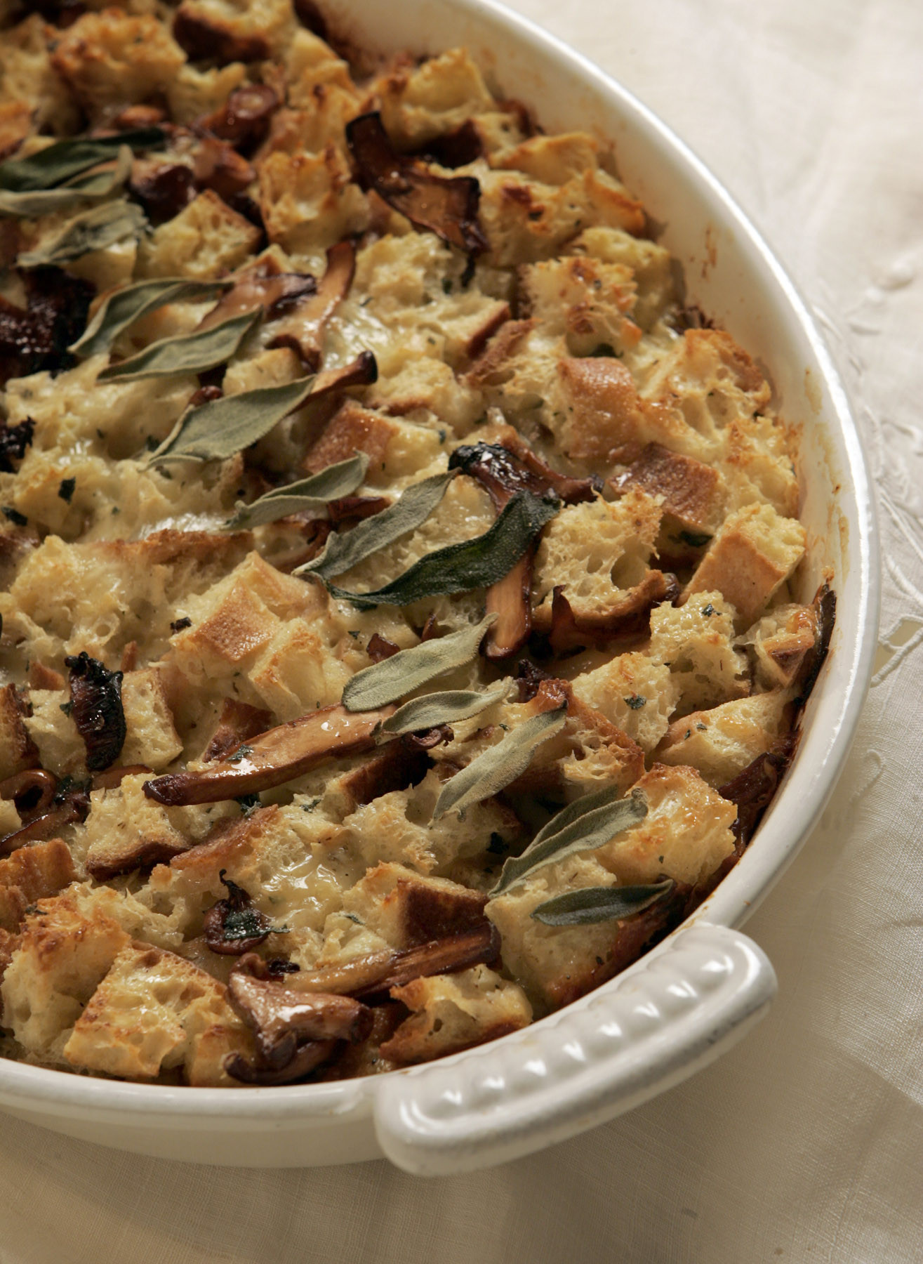 Photos: 97 great Thanksgiving recipes - Chanterelle-sage bread pudding