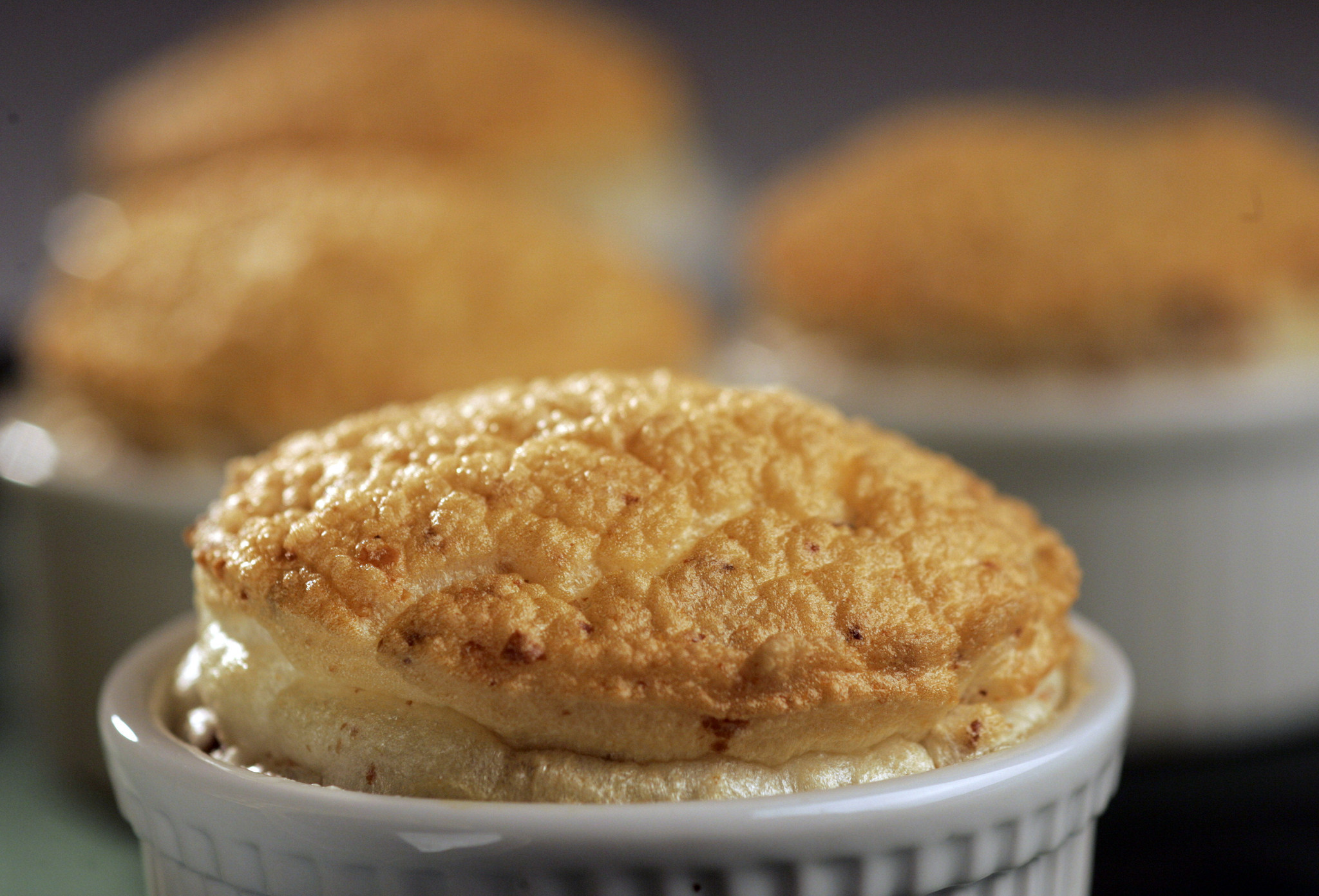 Photos: 97 great Thanksgiving recipes - Sweet potato puree with hazelnut souffle top