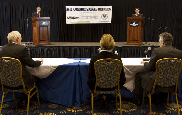 "3rd. District Congressional Debates, was held tonight at CNU's David Student Union ballroom. U.S. Rep. Robert C. ""Bobby"" Scott D-Newport News and Dean Longo R-Newport News."