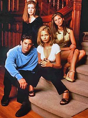 """The first three years of the series, Buffy Summers and the Scoobies (i.e. best friends Willow, Xander, Cordelia and more) dealt with """"high-school-as-hell"""" in a more literal sense than most television shows -- especially since the school was located on a hellmouth portal.<br> <br> Luckily for Sunnydale, Buffy is a slayer with super strength and a mystical purpose to save the world. The prophecies don't much mention dealing with high school boys, snotty schoolmates, homework and graduation -- but with the help of her Watcher/librarian/friend Giles, Buffy conquered all, even her own death.<br> <br> Well, graduation did end with Buffy and friends helping to blow up a giant demon and fight off a horde of vampires in their cap-and-gowns before going off to college -- so there was that."""