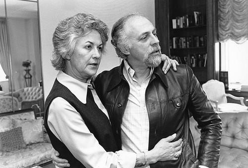 Arthur in 1977 with her then-husband, director Gene Saks.