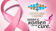 Gun Lake Casino is partnering with two Michigan Susan G. Komen affiliates to raise awareness of breast cancer.