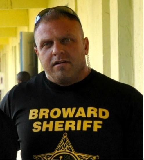 BSO Deputy Mathew Eisenberg surrendered at the Broward County Main Jail Tuesday morning. He is charged with beating up a homeless man in 2011. He is shown in a file photograph previously released by the Broward Sheriff's Office.