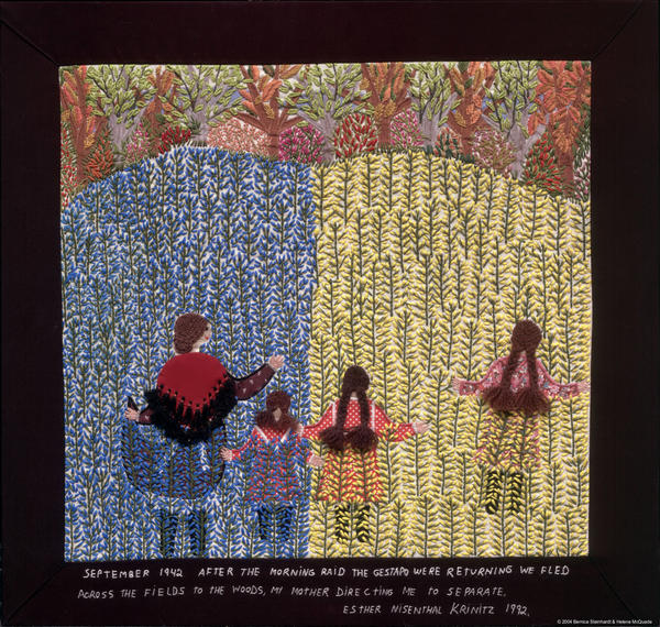 """""""We Fled Across the Fields, No. 16"""" by Esther Krinitz is part of AVAM's """"The Art of Storytelling"""" exhibit, which runs Oct. 6 though Sept. 1, 2013."""