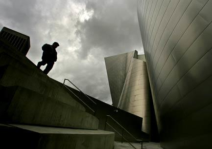 Beneath a stormy sky, 20-year-old violinist Robert Vijay Gupta heads back to the Walt Disney Concert Hall, where he's the youngest member of the L.A. Philharmonic.