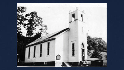Benscreek Lutheran Church in the 1930s.