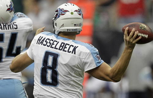 Jake Locker has almost no chance of playing this week, which means a start for Hasselbeck. Beyond that, I make few guarantees, though he would've had a pretty nice game in relief if not for a pair of interceptions. If you're like me and somehow have both QBs on a bye this week (what are the odds?) then I suppose there are worse options. I mean, who else are you gonna pick up, Tim Tebow? <br><b>Last week:</b> 193 pass yards, 2 TD, 2 Int.<br><b>This week:</b> @Vikings