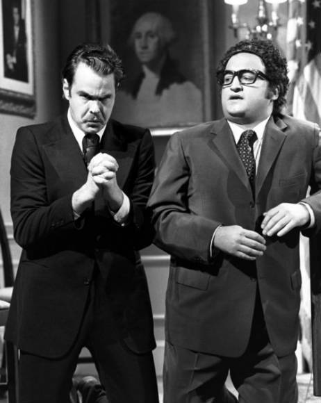 "Aykroyd played Nixon and John Belushi stood in for Henry Kissinger on ""Saturday Night Live"" back in the 1970s."