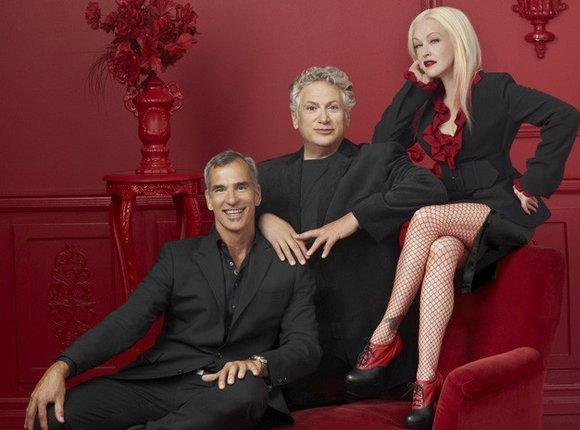"""Kinky Boots"" director Jerry Mitchell and writers Harvey Fierstein and Cyndi Lauper."