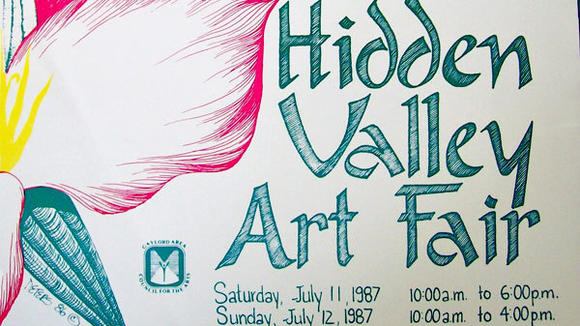 A 1987 poster advertising an art fair sponsored by the Gaylord Area Council for the Arts. Since 1972 the arts council has remained true to its mission of providing cultural opportunities to the community.
