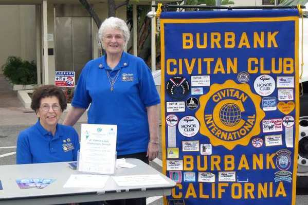 Burbank Civitan Club President-elect Elaine Paonessa, left, and secretary DeeDee Ruhlow.