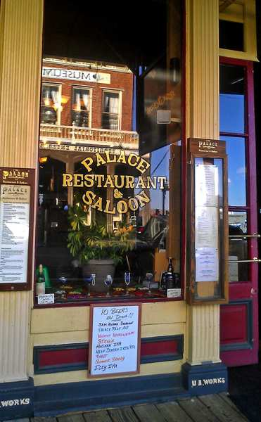 The Palace Restaurant & Saloon has offered good meals and drinks since 1875.