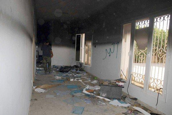 The U.S. Consulate in Benghazi, Libya, the a day after the Sept. 11 attacks that killed the ambassador and three other Americans.