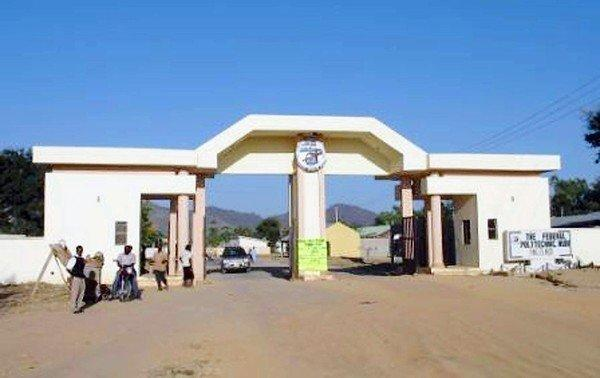 The entrance of the Federal Polytechnic campus in Mubi, Nigeria, where assailants killed 25 people at a dormitory.