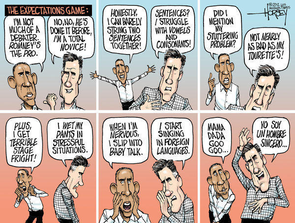 Obama and Romney try to lower debate expectations
