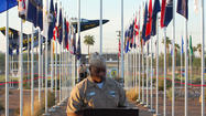NAVAL AIR FACILITY EL CENTRO — Fifty-three flags stood tall above the crowd, showing what some said is the diversity of the United States.