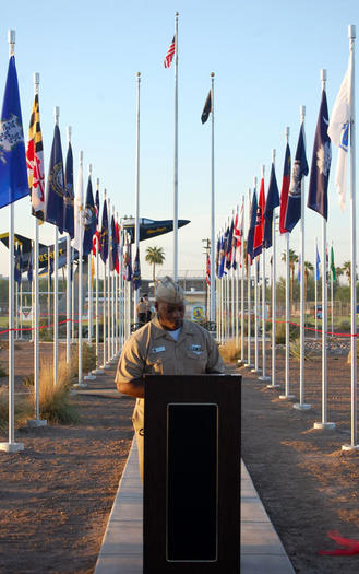 Field of flags dedication
