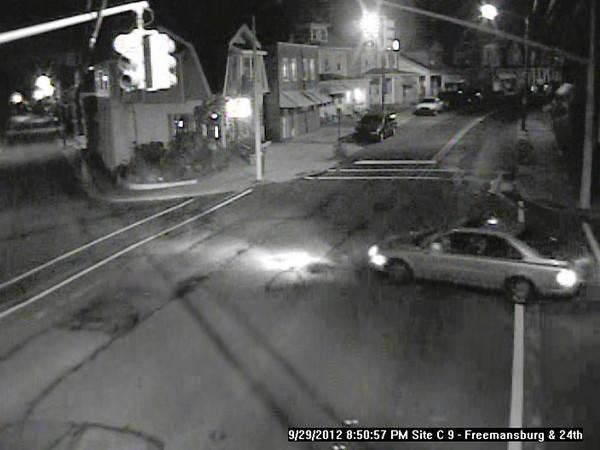 This is the car that Easton and Wilson police say was involved in three robberies Saturday night. Police believe it is a silver Volvo.