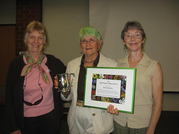 Pictured from the left are Cynthia Long, Hamilton and Jan Newton.