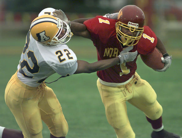 Tyrone Morgan stiff arm