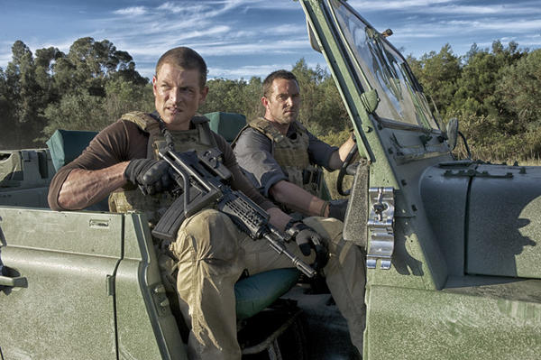"Philip Winchester and Sullivan Stapleton in ""Strike Back."""
