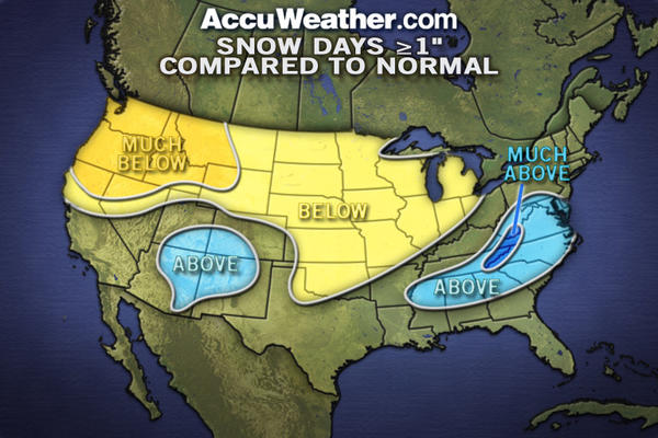 AccuWeather.com's winter outlook is calling for more than normal snow days this winter.