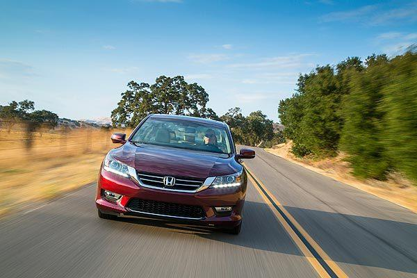 The Accord is a well-rounded vehicle that starts at $22,470 and is sure to give a pile of headaches to competitors. The Accord EX-L V-6 Sedan is shown here.