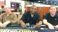A regular poker player, former Dolphin defensive back Shawn Wooden hung in until the final few tables.