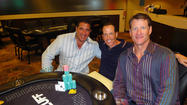 Event co-chair Greg Marsh, tournament winner Steve Zaffos and Jeff Conine after the event.