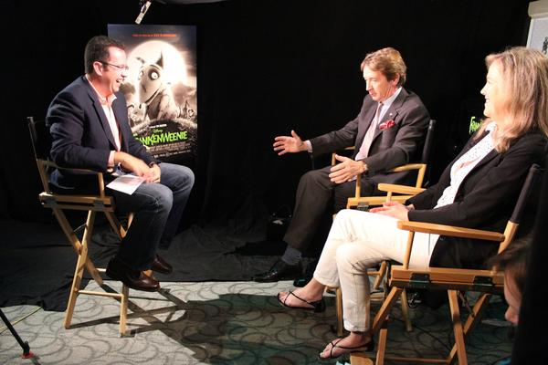 "Jared Fogle interviews ""Frankenweenie"" stars Martin Short and Catherine O'Hara"