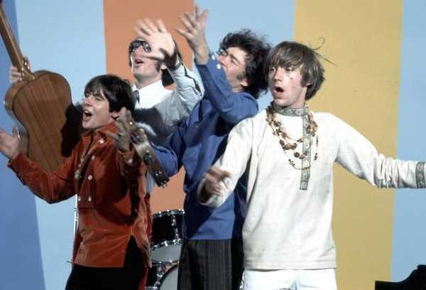 The Monkees, in a circa 1967 photo, will go on a reunion tour with surviving members Michael Nesmith, Micky Dolenz and Peter Tork.