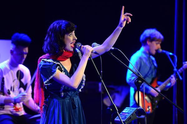 Kimbra performs in Poland in 2012.