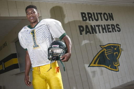 Bruton linebacker / RB Kapri Doucet is shown at the school in York on Wednesday.