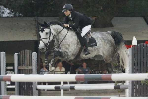 Nicole Haunert rides Capimira during Flintridge Riding Club's 90th anniversary in La Canada.