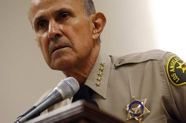 Los Angeles County Sheriff Lee Baca speaks at a news conference Wednesday, when he announced coming changes to his jails.