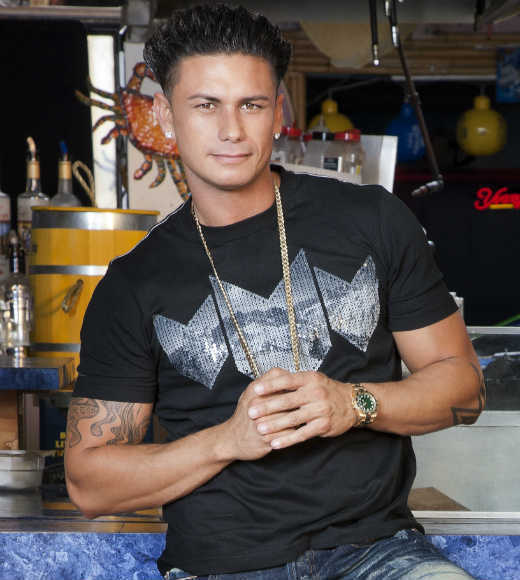 """My boss seems to think that my hair is gonna fall off and go into the ice cream. This hair ain't movin' my dude. 150 miles an hour on the highway on a street bike. Doesn't move. What makes you think it's gonna move in a gelato shop?"" -- Pauly D"