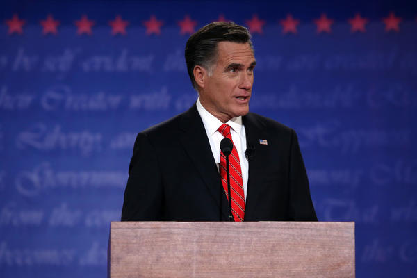 Mitt Romney during Wednesday's presidential debate at the University of Denver.