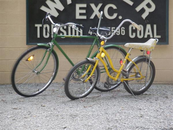 The Walker collection also includes these John Deere inspired bicycles from the 1970s, which were some of the more unusual products offered by the company.