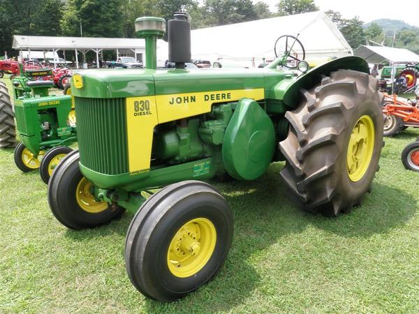 This 1960 John Deere 830 Diesel holds the distinction of being Walker's favorite tractor. He cites the distinctive sound of the two-cylinder diesel engine as one of his main attractions to the tractor.