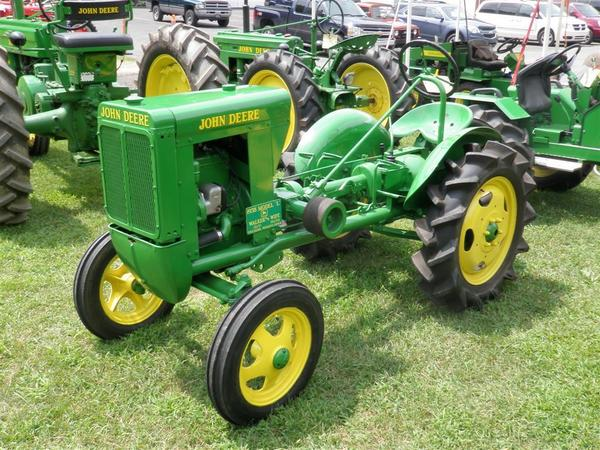 This 1938 Unstyled John Deere L was overhauled by Walker. The tractor is powered by a Hercules two-cylinder engine and was built during the last year of production for the L model. Walker believes that less than 50 of these tractors are still left in existence.