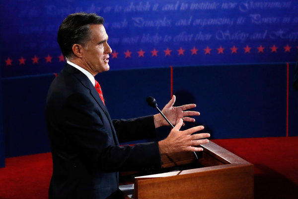 Mitt Romney during the presidential debate at the University of Denver.