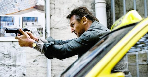 "Liam Neeson shoots his way out of another dire in ""Taken 2."""