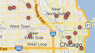Proposed sites for Chicago food trucks