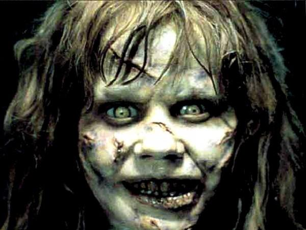 "The face only a mother could love. In 1973, Linda Blair gave a head-spinning performance as the possessed Regan MacNeil in ""The Exorcist."""