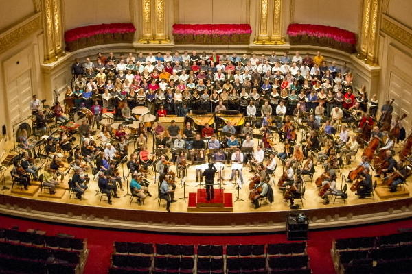 The Chicago Symphony Orchestra Rrehearses at Carnegie Hall Wednesday afternoon.
