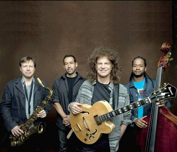 Guitarist Pat Metheny with his Unity Band, from left, Chris Potter, Antonio Sanchez and Ben Williams.